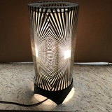 1970's Psychedilic Animated Motion Lamp Zebra Pattern Working Condition