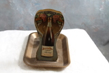 Vintage Metal Advertising Ashtray and Matchbox Holder Brocton Wines