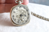 Vintage 14kt gold fill case SOLREX 17Jewel Pocket Watch with Chain