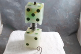 Mid-Century Figural Dice Lamp in Working Condition