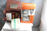 1950's Official BSA Scout Toilet Kit in Original Box w/Mirror, Comb, Brush, Soap,