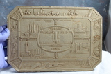 1934 Chicago World's Fair Hot Plate Trivet Embossed with Many Different Displays