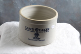 Red Wing Stoneware Advertising 5 lb Butter Crock LAND O LAKES BUTTER