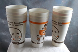 11 Vintage A&W Root Beer Soda Advertising Plastic Cups Amoco 8 oz size