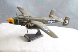 Diecast Boeing B-25J Bomber 1:100 Scale on stand