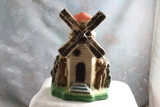 Vintage Windmill with Dutch Boy & Girl Chalkware Carnival Prize 9