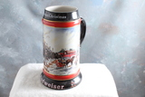 1992 ARTIST SIGNED Budweiser A Perfect Christmas Beer Stein Susan Sampson