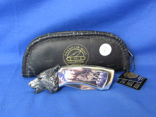 Franklin Mint Wolf Folded Knife