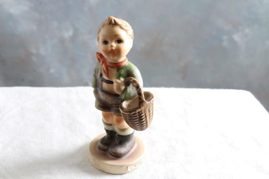 "Vintage Hummel Goebel Figurine VILLAGE BOY #51 3/0 Measures 3.75"" Tall"