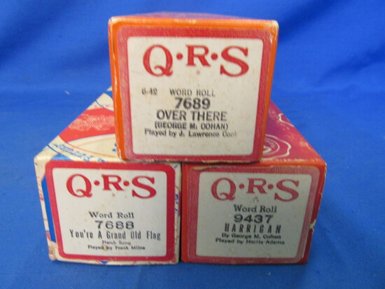 Vintage QRS Word Roll Piano Rolls -WWI Era Songs – Very Good Condition – playable &