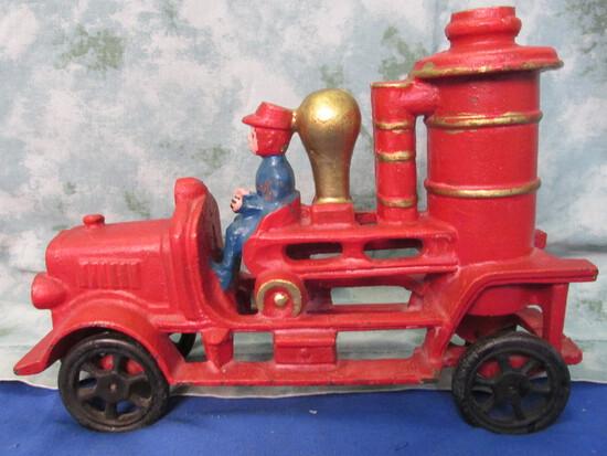 """Cast Iron """"Steamer"""" Fire Truck – 1 Driver"""