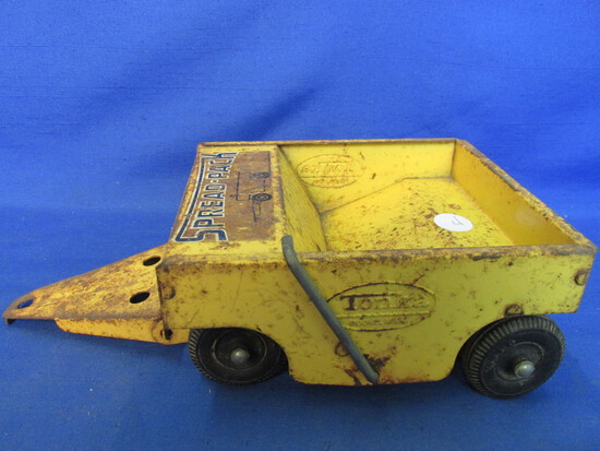"Vintage Tonka Highway Spread Pack Trailer Yellow 1960's  10"" L, Box 6 ¼ x 5 1/4"" x 3"" T"