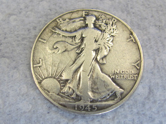 1945-S Walking Liberty Half Dollar – 90% Silver
