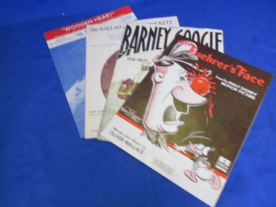 Vintage Sheet Music (4) – See photos