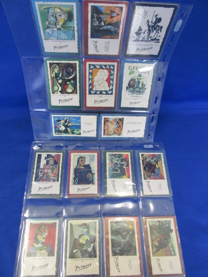 16 Collectible Pre-paid Phone Cards 1996 – All Piccasso  with Paintings & Dates