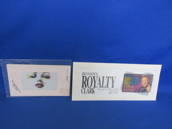 1990's Phone Cards: Marilyn Monroe & Roy Clark with Autographed Envelope Cover