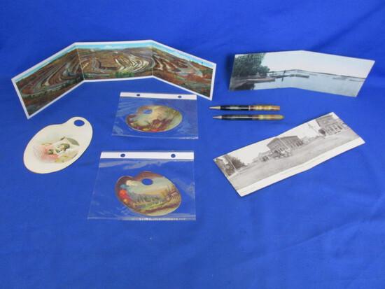 Ephemera: 3 Triple Fold Out Post Cards: Iron Range, St. Peter, Miller SD, (More)