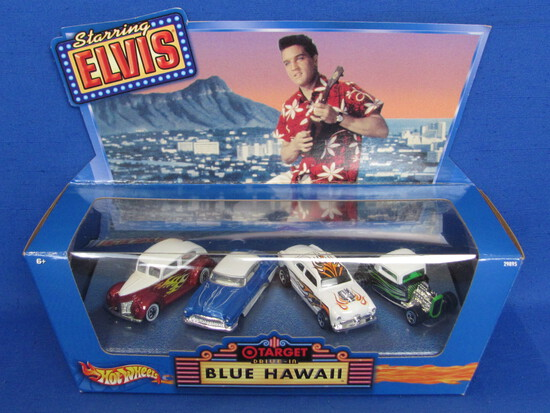 Hot Wheels Starring Elvis – Blue Hawaii – 4 Cars new in box