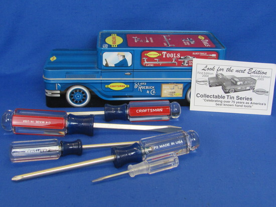 """Sears Craftsman Tin Series – 2005 2nd Edition – 9 1/2"""" long – 5 Screwdrivers Included"""