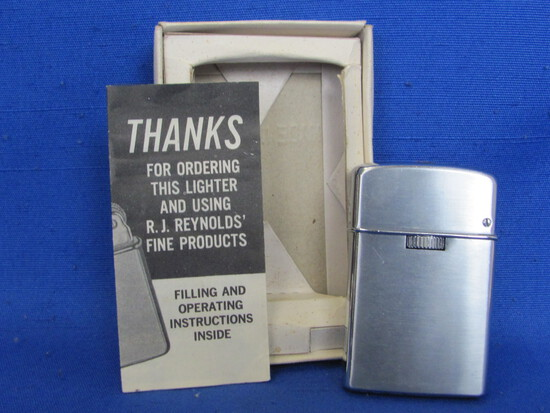 Chrome Lighter with Paper from R.J. Reynolds – Made in Japan