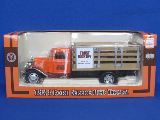 Trust Worthy 1934 Ford Stake Bed Truck – New in Box – 1:24 Scale