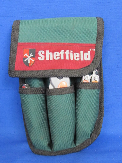 Sheffield Tool Kit: Flashlight, Pocket Knives, Multipurpose Tools, Wear on your Belt