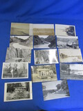15 Antique & Vtg. B& W Photo Postcards: Cabins, Lake Country, Wild West