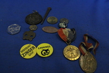 Smalls Lot – Tokens, Souvenir Penny, Medallions, Square Nail, Button, etc. - As shown