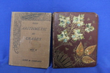 Antique Books – 1902 Arithmetic by Grades Number 3 – Notebook w/ Handwritten notes