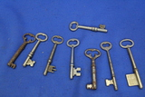 "Lot of 8 Skeleton Keys – Largest is 3 1/4""L – As shown"