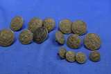 Lot of 15 Plastic Military Buttons – 3 Sizes – As shown