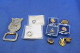 Lot of 9 Pins & a Bottle Opener – Protected Home Circle, Fraternal Order of Eagles, American Legion