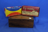 Assorted Lot – Wooden Trinket Box, McDonalds Toy, Poker Chips, Flo-master Felt Tip Pen/Ink