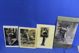 Lot of 4 Vintage Photos – Women in various poses – look like reproductions – As shown