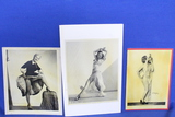 Lot of 3 Vintage Photos – Women in various poses – look like reproductions – As shown