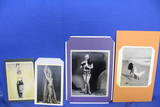 Lot of 4 Vintage Photos – Semi-nude/Nude women – look like reproductions – As shown