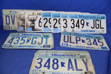 Lot of 12 Minnesota License Plates – 5 Pairs – Tabs from 1982 to 2019 – As shown