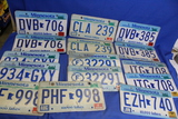 Lot of 15 Minnesota License Plates – 7 Pairs – Tabs from 1989 to 2007 – As shown