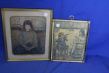 "Vintage Framed Puzzle of 2 Children – Framed Print of ""Felix in Costume"" by Pizzarro"