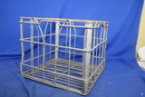 "Vintage Metal/Wire Milk Crate - ~13"" x 13"" x 11"""
