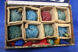 Cigar Box full of Vintage Christmas Light Bulbs – 20 Total – As shown