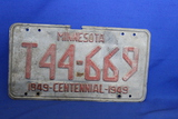 1949 Minnesota License Plate – MN Centennial