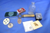 Vintage Smalls – Dodge Badge, Lions Club Pin, Schmidt Beer Matches, Souvenir Penny,