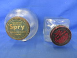 2 Vintage Glass Jars w/ Metal Lids: Spry  & Ever Fresh