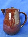 "Red Wing USA  ""Provincial"" Coffee Pot/Pitcher w/ Top – Stands appx 7 1/2"" T"