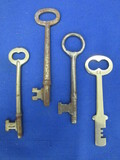 4 Vintage Skeleton Keys