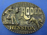 Vintage Belt Buckle: '78 National Finals Rodeo – Hesston – Oval
