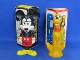 "2 Avon Containers with Original Boxes: Mickey Mouse & Pluto – About 7"" tall"