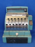"Metal Tom Thumb Cash Register – Has some Play Paper Money – Works – 8 1/2"" tall"