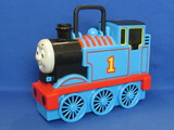 "Plastic Thomas the Train Carry Case – Holds 17 Small Vehicles – 12"" long"